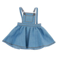 1/6 Scale Doll Clothes Girl Suspender Skirt Outfits For 12in BJD Dolls Blue