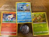 POKEMON GALAR COLLECTION SOBBLE GROOKEY SCORBUNNY HOLO PROMO W/COIN SET NM