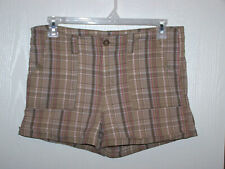 Faded Glory Women's Shorts size 14 plaid short waist 36.5