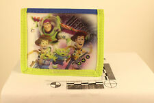 Disney Toy Story Green Blue Bi-fold Wallet Woody Buzz Holographic Front Design