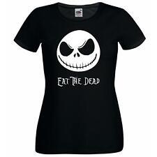 Ladies Black Jack Skellington Eat The Dead T-Shirt Shirt Christmas Nightmare