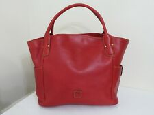 DOONEY & BOURKE FLORENTINE LEATHER LARGE KRISTEN TOTE BAG PURSE RED NEW