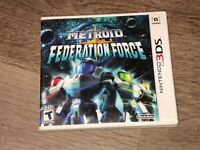 Metroid Prime Federation Force Complete Nintendo 3DS 2DS Authentic