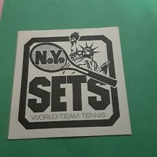 1976 NEW YORK SETS WTT  HOME SCHEDULE