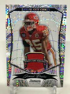 2009 Bowman Sterling Jamaal Charles Refractor Jersey 1/5!