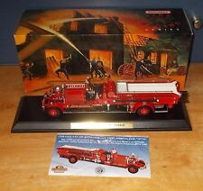 Matchbox Collectibles Fire Series YSFE01 Ahrens Fox Fire Engine with Plinth