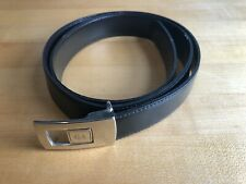 GIORGIO ARMANI Black Brown Reversible Leather Dress Belt 34 Made in Italy
