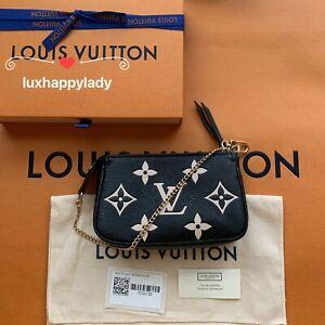 🔥NEW LOUIS VUITTON Mini Pochette Chain Monogram Empreinte Leather Black❤️GIFT!