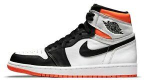 Air Jordan 1 Electro Orange Retro High OG White Black 555088-180 & 575441-180