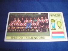 FEIJENOORD EUROPEAN CUP WINNERS 1970 PANINI CARD VERSION VALIDA BACK EX