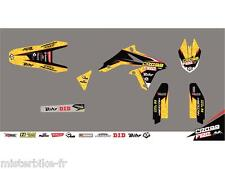 Kit déco CROSS FIRE jaune KUTVEK Suzuki RM85  /  78201276