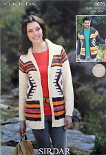 Sirdar Click DK Knitting Pattern for Cardigan - 9676