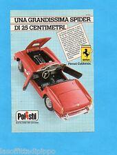 TOP985-PUBBLICITA'/ADVERTISING-1985- POLISTIL - FERRARI CALIFORNIA scala 1:16