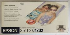 Epson Stylus C42UX Color Photo Inkjet Printer NEW ~ FACTORY SEALED