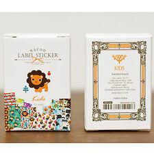 52pc Mini Matchbox Label Sticker Pack Cute Lion Paper Deco Scrapbooking Gift