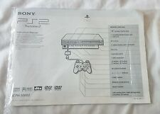 Original Sony Playstation 2 PS2 Console Instruction Manual