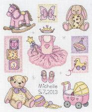 Anchor Cross Stitch Kit - Girl -  Birth Sampler - ACS38
