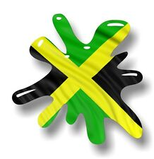 Retro Vieja Escuela Splat & Bandera de Jamaica Jamaica país Vinilo Coche Pegatina Calcomanía