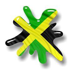 Retro Old School SPLAT & Jamaica Jamaican Country Flag vinyl car sticker decal