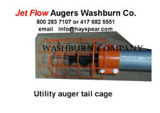 """Jet Flow Tail Cage For Utility Auger 10"""" Dia Tube w/ Hitch"""