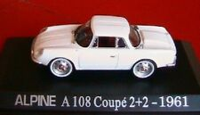 ALPINE RENAULT A108 COUPE 2+2 1961 UNIVERSAL HOBBIES 1/43 M6 INTERACTIONS WHITE