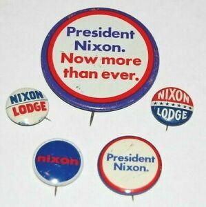 RICHARD NIXON Collector Lot campaign pin pinback button political presidential