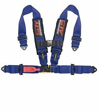 4-Point Racing Harness BLUE with 3'' Pads One Set