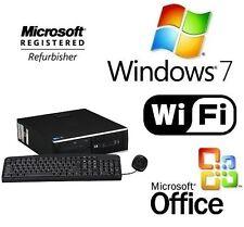 HP 6000 Pro Quad Core 2.66GHz  Windows 7 WiFi DESKTOP PC 8GB RAM 1TB HDMI GAMING