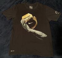 Nike Mens Lebron James Championship Ring Dri Fit T Shirt Size M