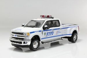 2019 Ford F-350 Dually NYPD Police Pickup Truck 1:64 Scale Diecast Model