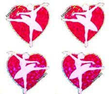 Sparkle Ballerina Ballet Love Heart Pink Hambly Studio Glitter Stickers