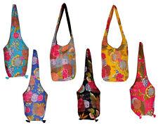 10 New Kantha Stitch Tote Bags Long Sling Boho Gypsy Purse Wholesale Lot