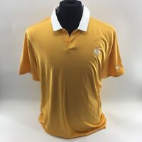 NIKE GOLF Dri Fit Rio Olympics Logo Polo Shirt Large Orange Short Sleeve NWT G5B