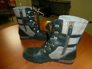 Sorel Major Carly Winter Combat Leather Winter Boots NL2157-252 Women's Size 9