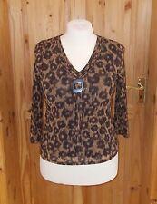 Chiffon Animal Print V Neck Hip Length Women's Tops & Shirts