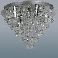 Modern Round Genunie Crystal Chandelier 5-Lights Ceiling Light