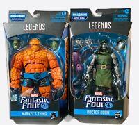 Marvel Legends Series Fantastic Four Dr Doom & The Thing BAF Super Skrull Lot 2