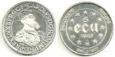 BELGICA MONEDA DE 5 ECU 1987 PLATA SILVER SILBER (PROOF) KM-166