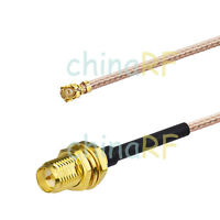 U.fl/IPX to RP-SMA female center male pin Coaxial RF Pigtail RG178 Cable 10cm 4""