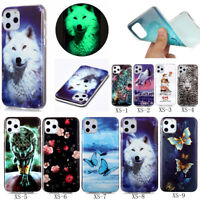 Luminous Noctilucent Patterned Silicone Rubber Soft TPU Back Lot Case Cover XS1