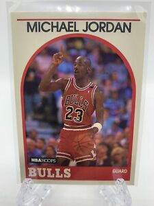 1989-90 NBA Hoops Michael Jordan Card #200 Chicago Bulls NBA HOF