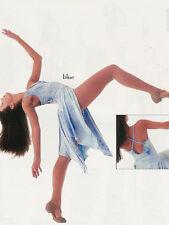 Blue Lyrical Ballet Dance Dress Costume Tie Dye Child Medium
