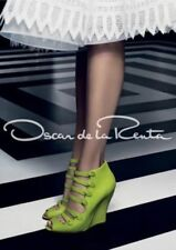 OSCAR DE LA RENTA DAKOTA GREEN CUT OUT WEDGE SANDAL WOMEN'S BOOTIE 41 1/2 10.5