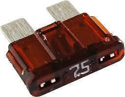 New 7.5A standard fuses pack of 10, 7.5 AMP blade fuses, for car motorbike van