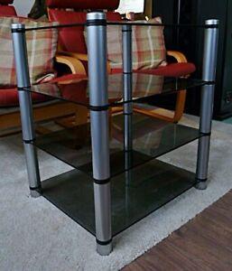 Apollo HiFi Rack/Stand. 4 Tier with smoked glass shelves