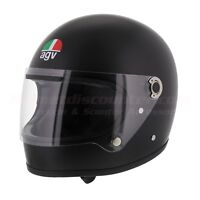 AGV Legends X3000 Matt Black Vintage Retro Helmet Fast N Free Shipping Size S MS