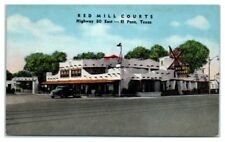 Red Mill Courts, El Paso, TX Postcard