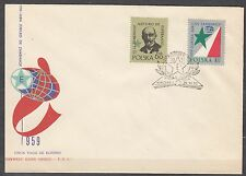 POLAND 1959 FDC SC#859/60 International Congress of Esperanto - L. Zamenhof