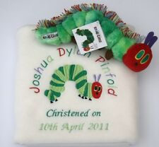 The Very Hungry Caterpillar Baby Blanket (Personalised) & matching Beanie Toy!