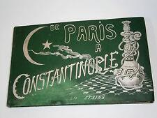 1900's ANTIQUE PARIS TO CONSTANTINOPLE BOOK ALBUM PICTURES OTTOMAN ILLUSTRATION